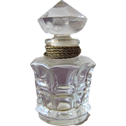 Vintage Perfume Bottle Marquay L Elu French All Glass 1946
