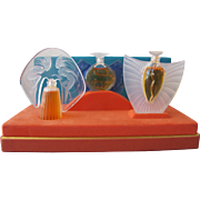 Vintage Lalique Perfume Bottle Mini's in Box Perfect