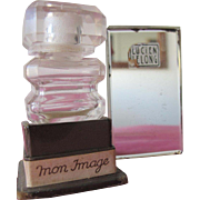 Lucien Lelong Perfume bottle with Box Mon Image Mirror Box