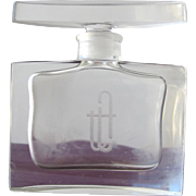 Quality Perfume Bottle Etched Letters