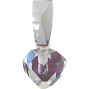 Geometric Crystal Perfume Bottle from 1980s Perfect - Red Tag Sale Item