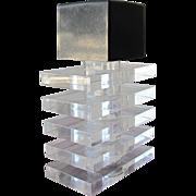 Mid Century Modern Perfume Bottle of Lucite