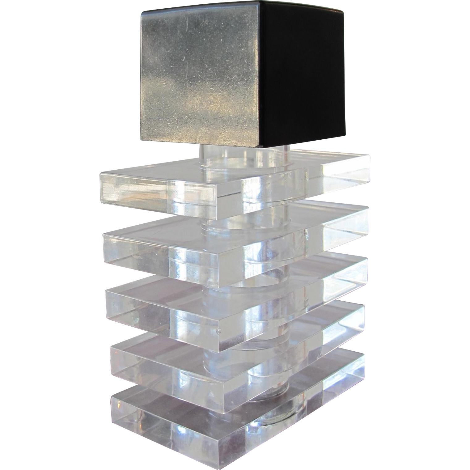 Mid Century Modern Perfume Bottle of Lucite from ...