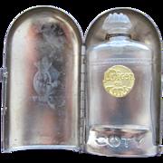 Coty Lalique Designed Mini Perfume Bottle Coty Paris 1909 L'Origan