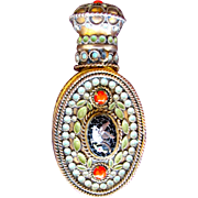 Chatelaine Perfume Bottle Micro Mosaic Bird Made in France