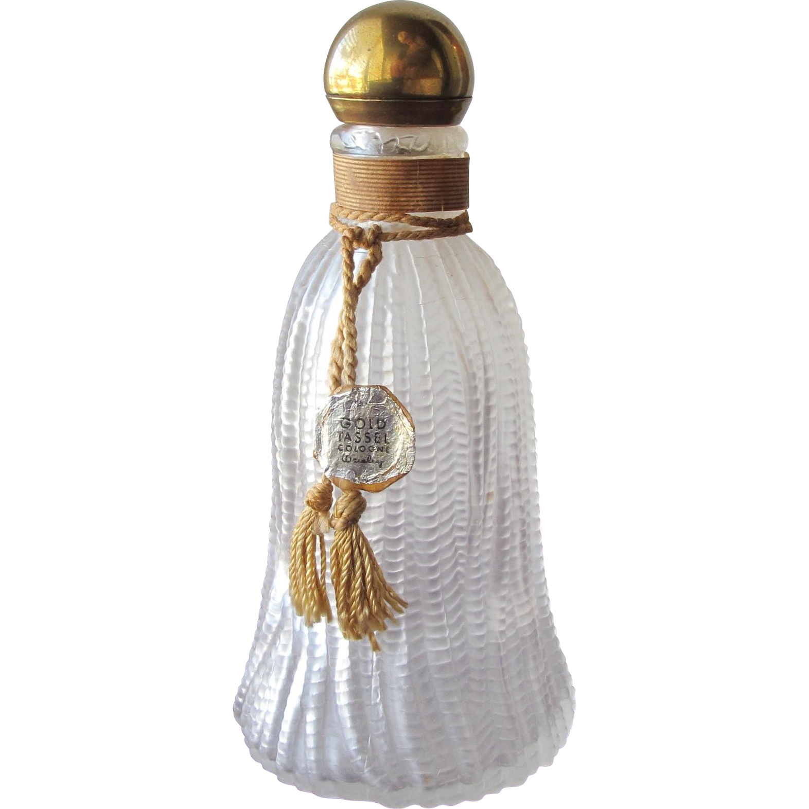 Commercial Perfume Bottle Wresley Gold Tassel Frosted Glass