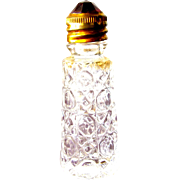 Irice Perfume Bottle Jeweled Top in Red