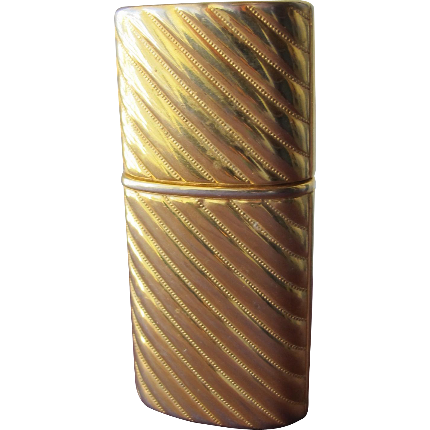 Estee Lauder Perfume Bottle 1985 Beautiful Metal Purse Perfume