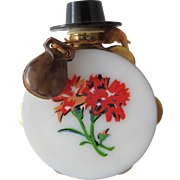 Perfume Bottle Shaped Tambourine with Canastas and Hat