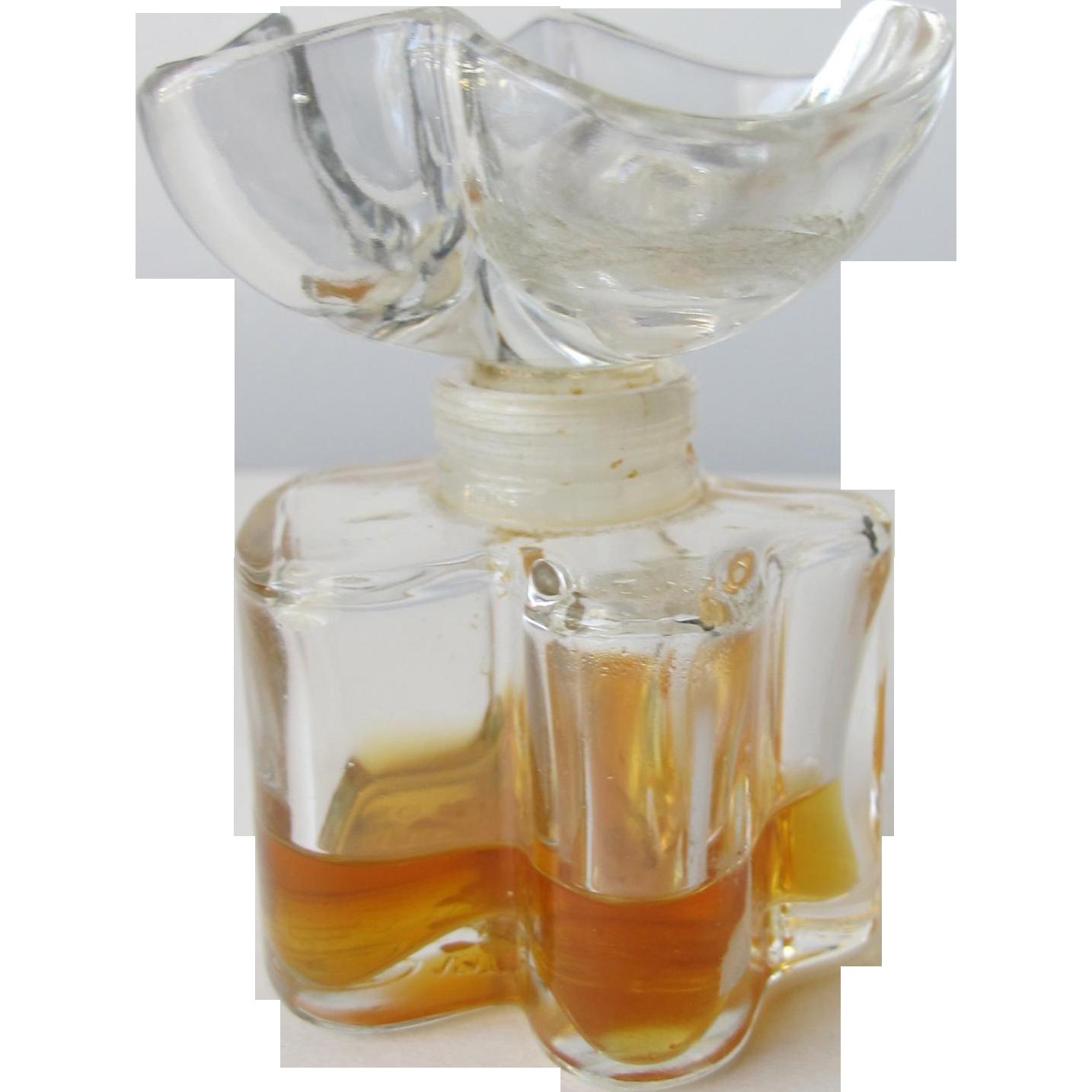 Oscar de La Renta Perfume Bottle All Glass with Flower Top