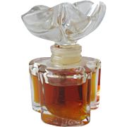 Oscar de La Renta Perfume Bottle All Glass with Flower Top