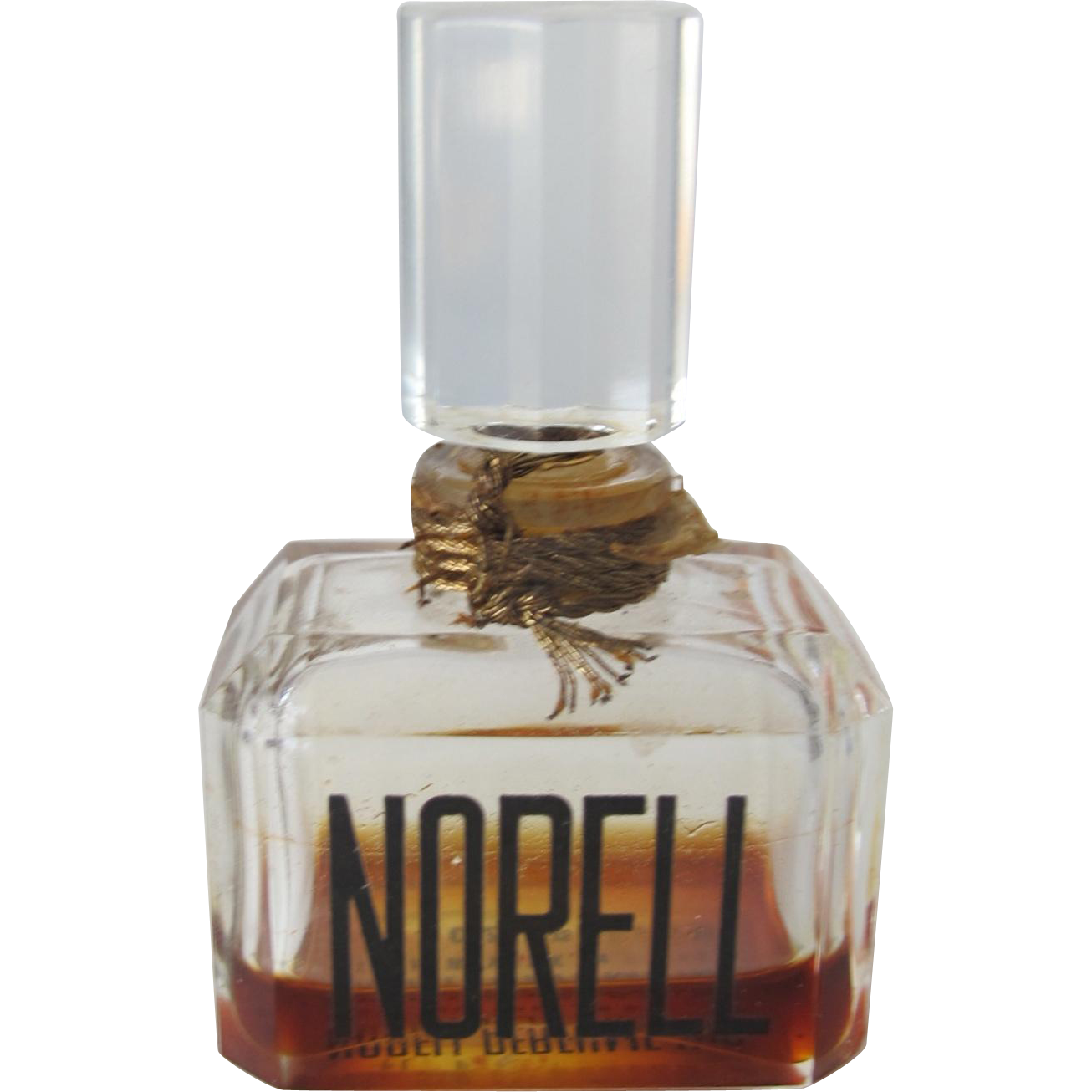 Norell Perfume Bottle Small All Glass Bottle
