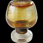 Perfume Bottle by Revillon Detchema Brandy Sniffer Shape All Glass Vintage Scent