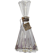 Vintage Perfume Bottle by D'Orsay Intoxication 1942 with Hanging Label