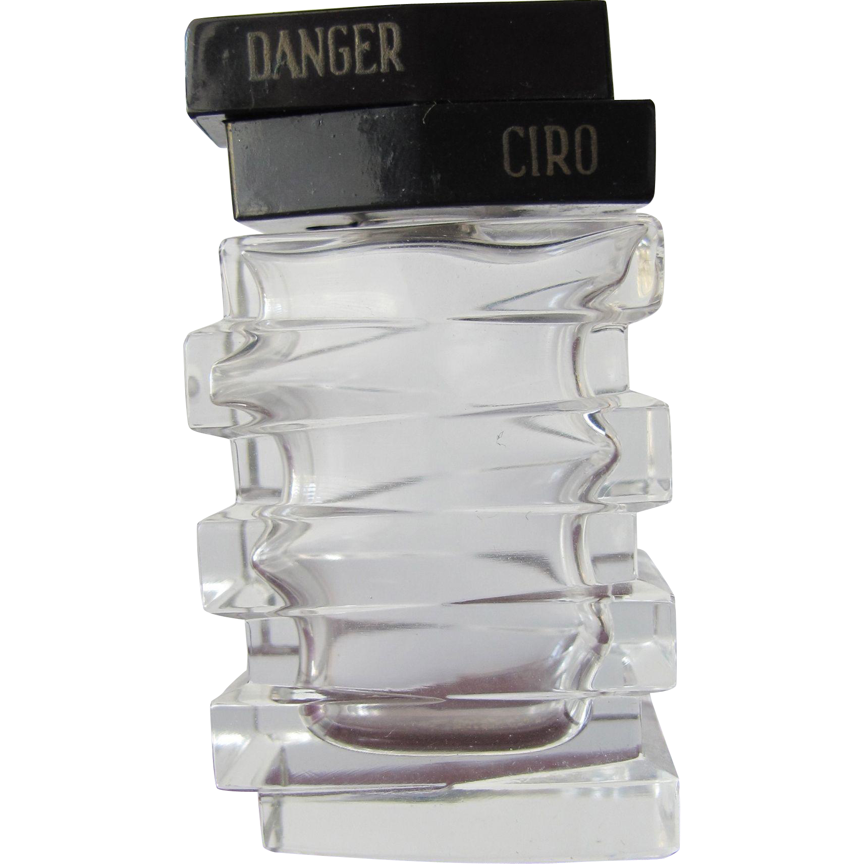 Commercial Perfume Bottle by Ciro Danger Perfume 1938 Smaller Size
