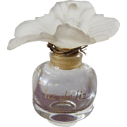 Flowered Perfume Bottle Made in France Liz de Liz Rare and Hard to Find