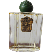 Rare Mini Perfume Bottle by Duleve Scent of Alors New York Bakelite Flower Top
