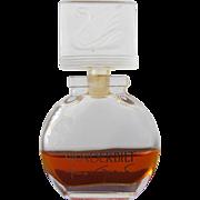 Perfume Bottle by Gloria Vanderbilt with Swan Stopper
