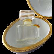 Estee Lauder Porcelain Egg with Mini Perfume Bottle White Linen Keepsake Box