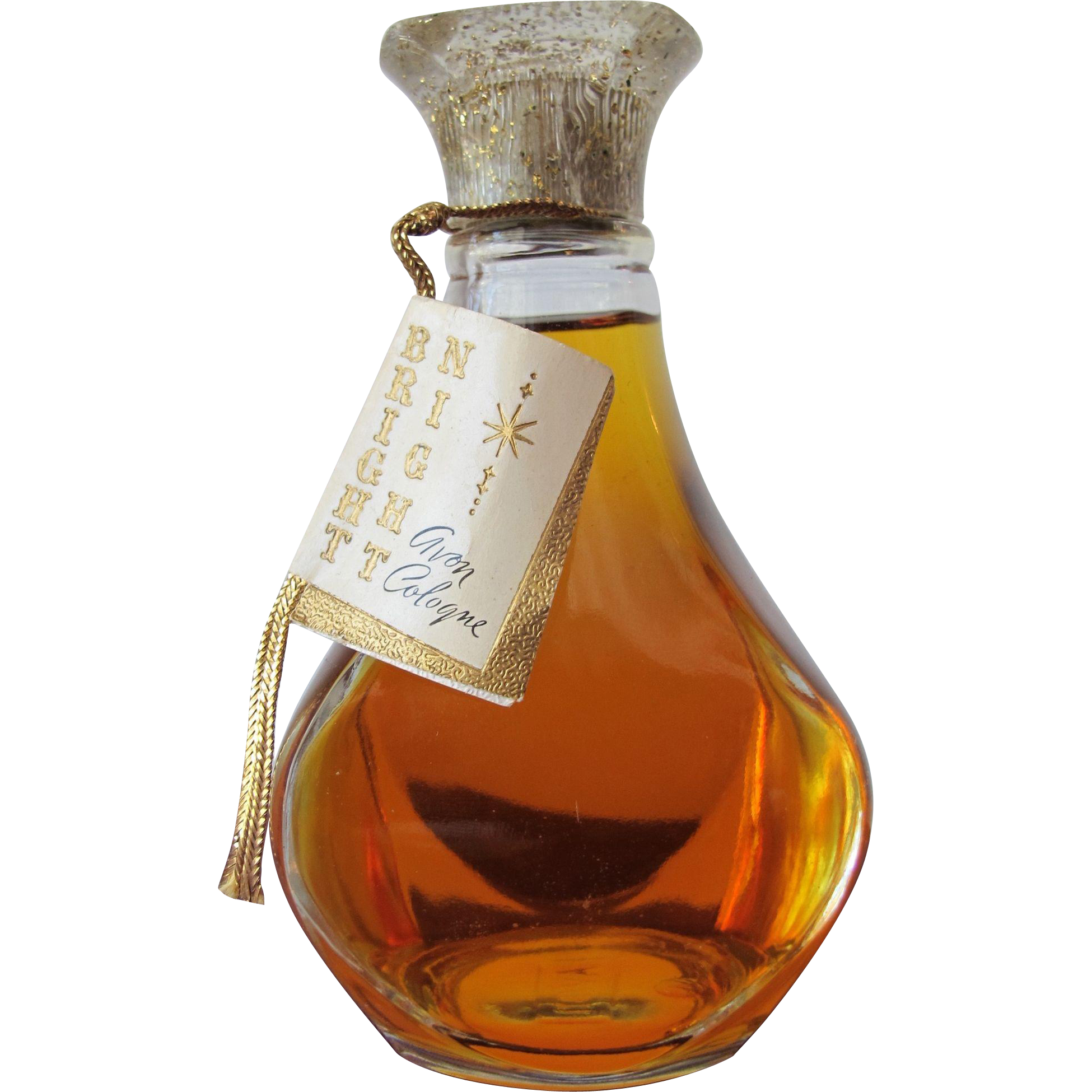 Full Perfume Bottle by Avon from 1950's With Hanging Tag