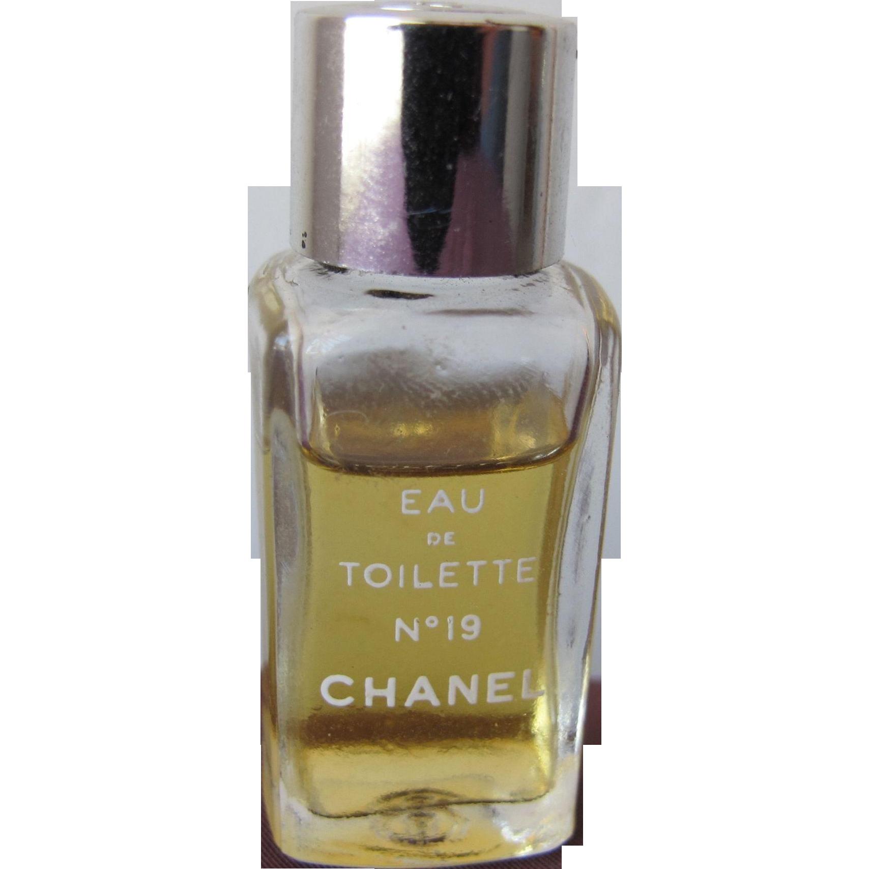 Chanel Mini Perfume Bottle Eau de Toilette No. 19