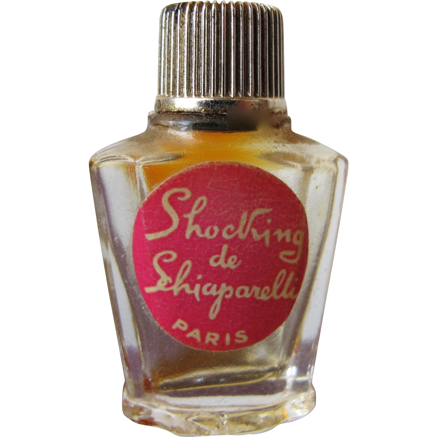 Micro Mini Schiaparelli Perfume Bottle Shocking with Label