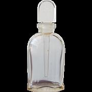 Jean Patou Perfume Bottle with Long Glass Dauber on Logo Glass Stopper