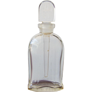 Jean Patou Perfume Bottle with Long Glass Dauber on Logo Glass Stopper