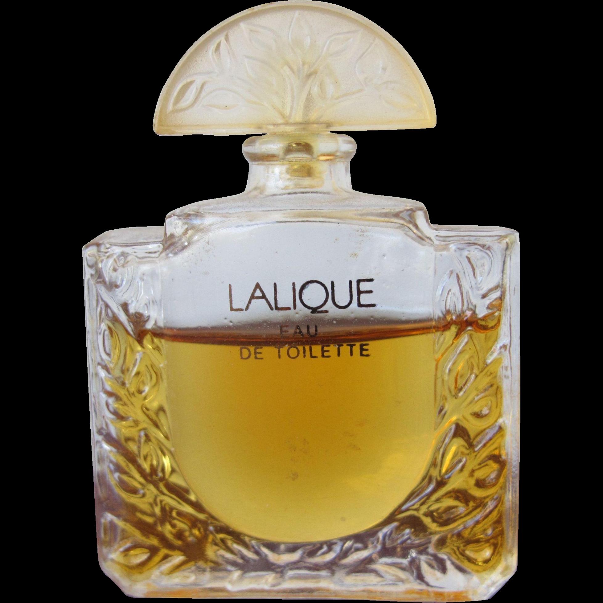 Lalique Mini Perfume Bottle Lalique Eau de Toilette Paris France