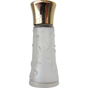 Evyan Mini Perfume bottle in Frosted Glass with Leaves