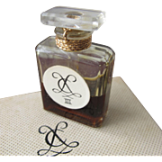 Boxed Perfume Bottle by Chaqueneau III New York 1950's