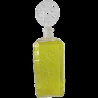 Ingrad Perfume Bottle by Hoffman-Schlevogt Designers of Finest Art Glass Cherubs and Nymphs