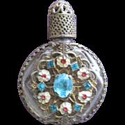 Jeweled Perfume Bottle Austria Mini Purse Perfume Turquoise