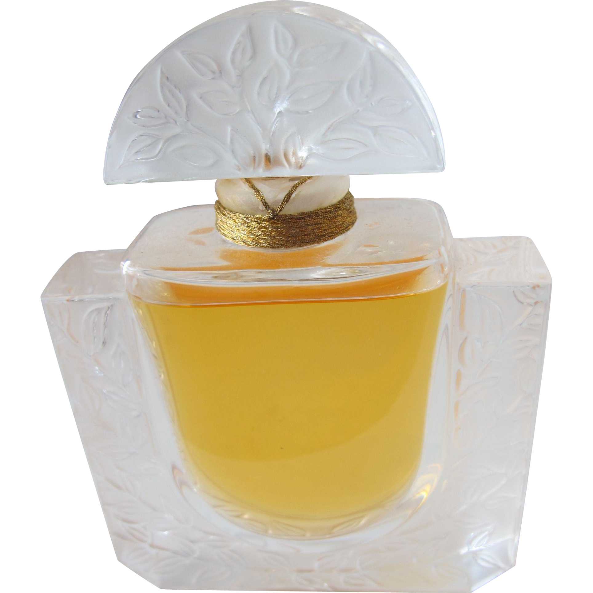 Vintage Perfume Bottle Lalique Chevrefeulle Crystal Factice Parfum Perfume Display Bottle
