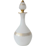 Antique French Scent Bottle of White Opaline Glass 1850-1880