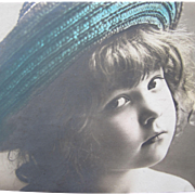 Post Card with Young Girl in Hat 1908