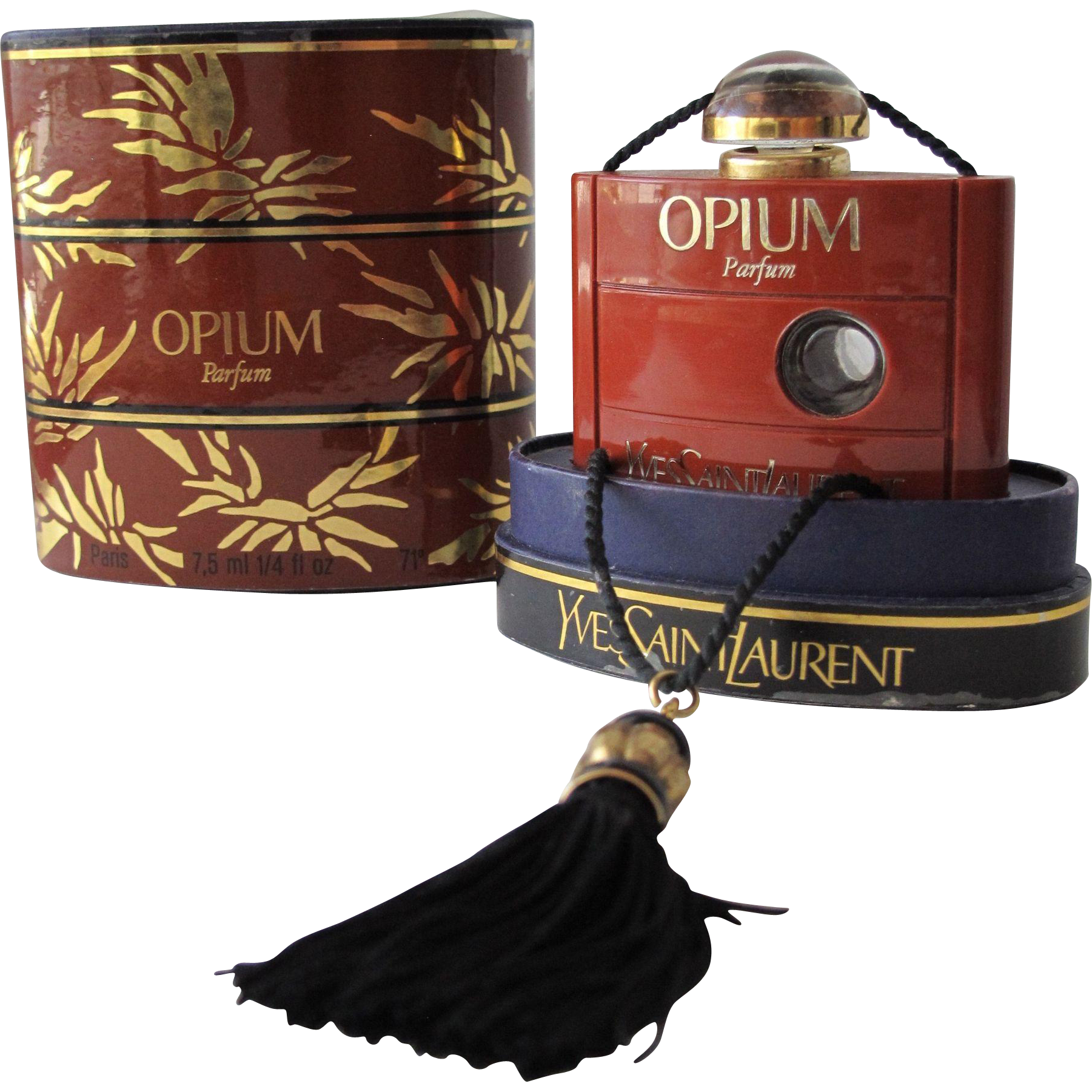 Boxed Commercial Perfume Bottle Opium Parfum by Yves Saint Laurent 1977