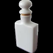 Porcelain Perfume Bottle Victorian Era with Cork and Long Dauber
