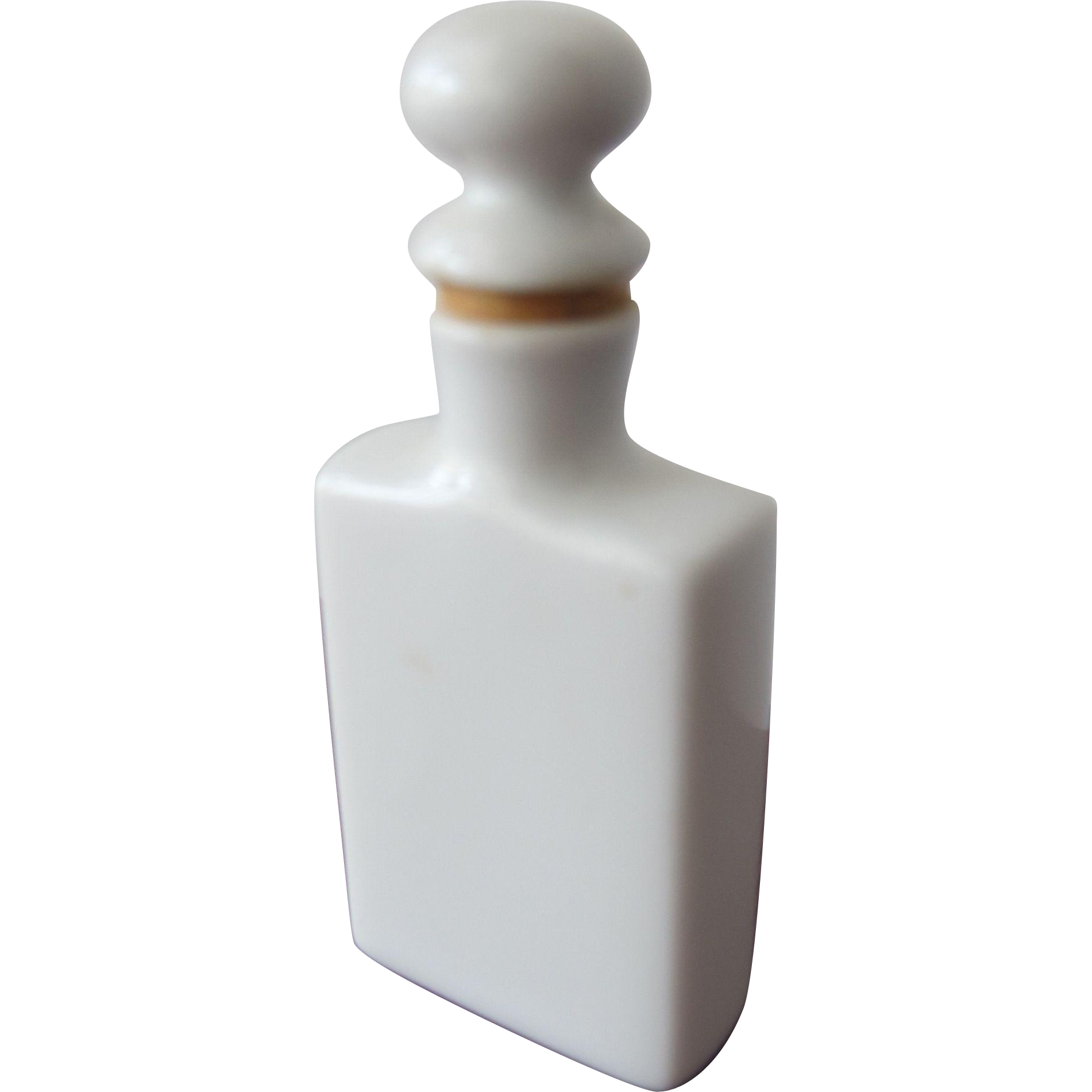 Porcelain Perfume Bottle Victorian Era with Cork and Long Dauber