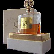 Elizabeth Arden Perfume Bottle  in Box with Metal Wedding Ring Stopper Parfum