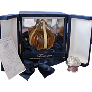 Limited Edition Crystal Perfume Bottle in Elegant Box by Royal Doulton Designed by  Brosse of France MIB