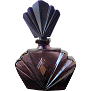Mini Perfume Bottle by Elizabeth Taylor Purple Glass Passion 1980's