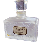 Dior Mini Perfume Bottle Frosted Glass Good Label