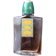 Vintage Coty Perfume Bottle Small Mini Perfume  from 1916 Emeraude