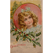 Christmas Postcard by Frances Brundage Illustrator 1908