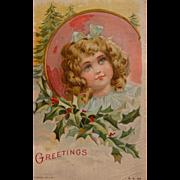 Christmas Postcard by Frances Brundage Illustrator 1908