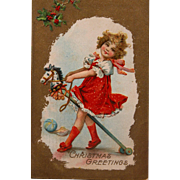 Frances Brundage Post Card for Christmas Greetings 1911