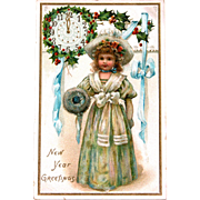 New Years Postcard by Frances Brundage Artist Published by Tucks