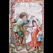 Valentine's Day Post Card Frances Brundage Illustrator