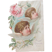 Easter Card Pre 1900 Die Cut Klein Brundage Illustrators